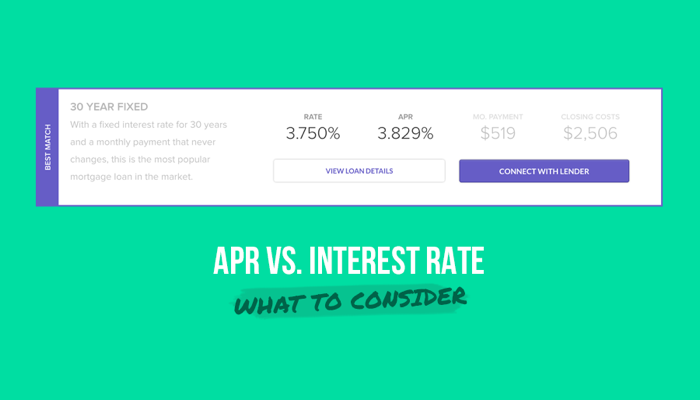 Difference Between APR and Interest Rate